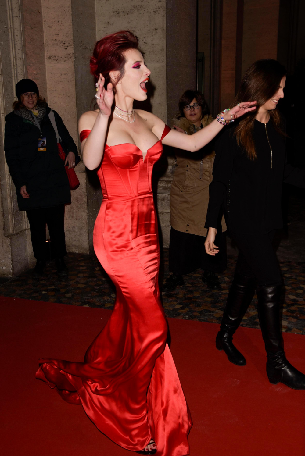 Pin by We've got some on Bella Thorne Torn Celebrity red