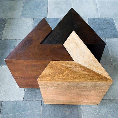 Комплект из 3х столиков Set Of 3 Triangular Tables Modul - Home Concept интерьерные магазины