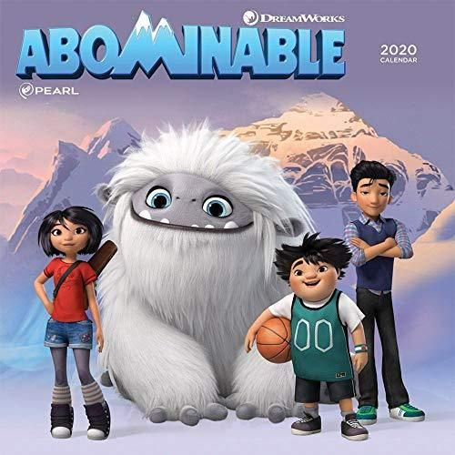 Abominable 2020 12 x 12 Inch Monthly Square Wall Calendar by Cal Ink, Movie Adventure Animated - Default