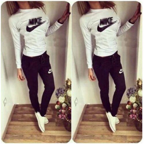2Pcs Women Tracksuit Hoodies Sweatshirt Pants Sets Sport Wear Zipper Casual  Suit ac4b0c78d