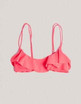 Sujetador bikini flúor volantes - Oysho