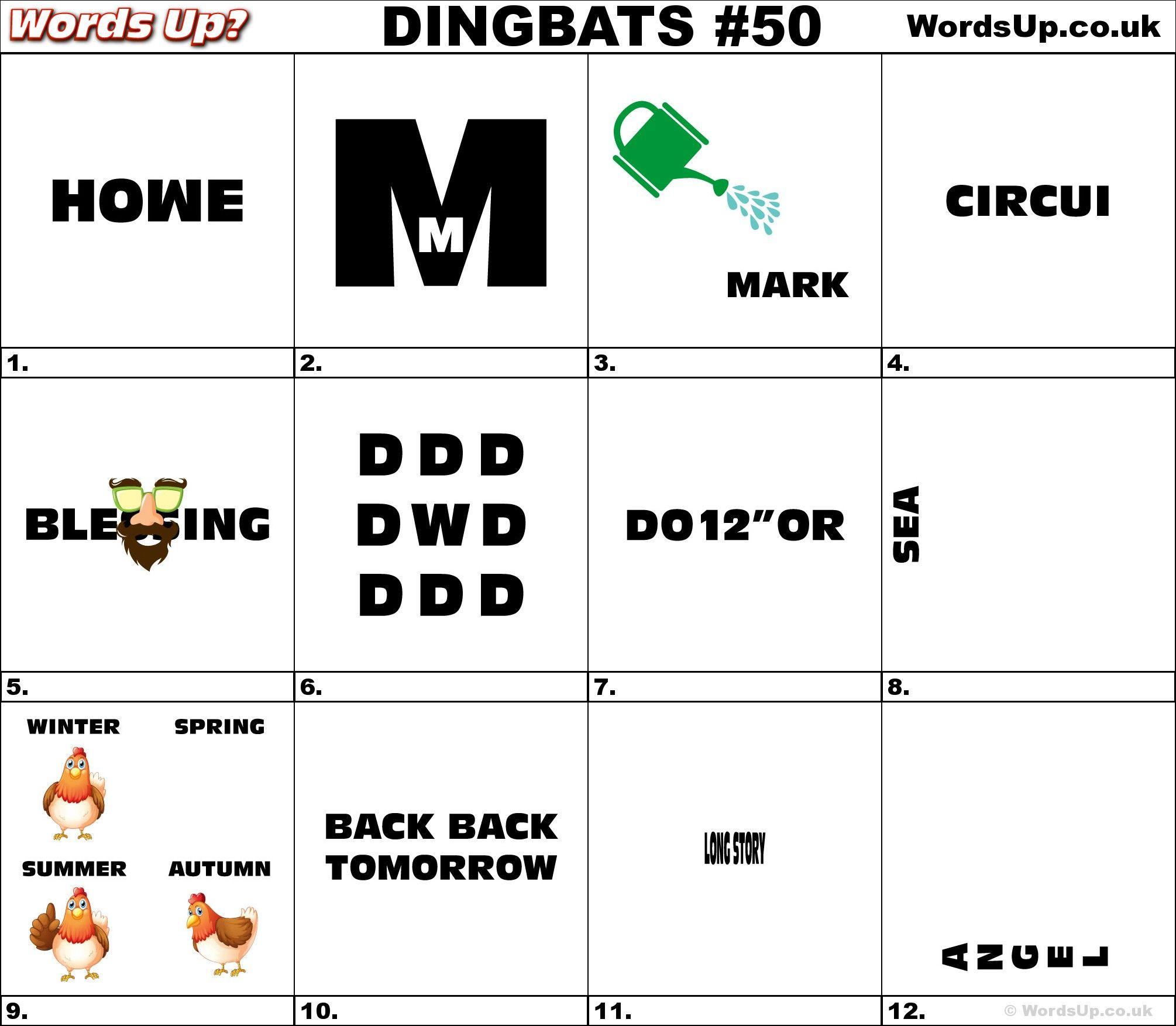 Dingbat & Whatzit Rebus Puzzles #dingbats #whatzits #rebus #puzzle ...