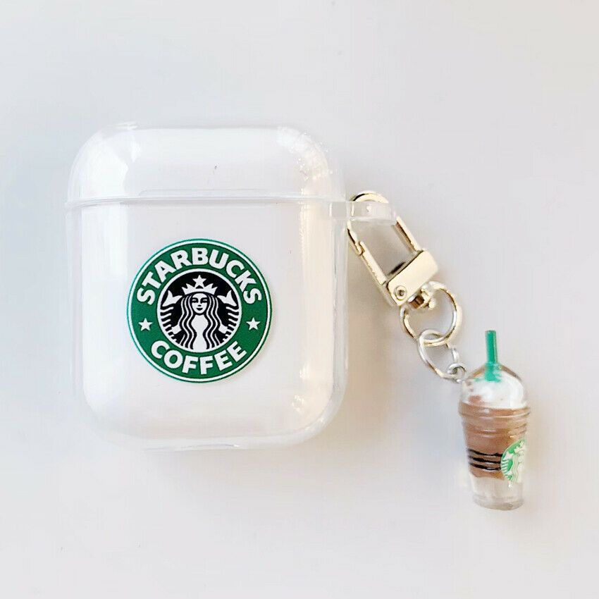Starbucks Portable Carrying Silicone Case Storage TPU Box For AirPods Earphone