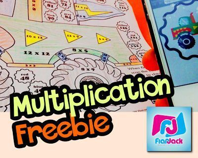 Multiplication Facts Worksheet Freebie when you subscribe to the FlapJack channel! This worksheet even comes with a cool, self-checking QR code your students will love! Watch video for details.