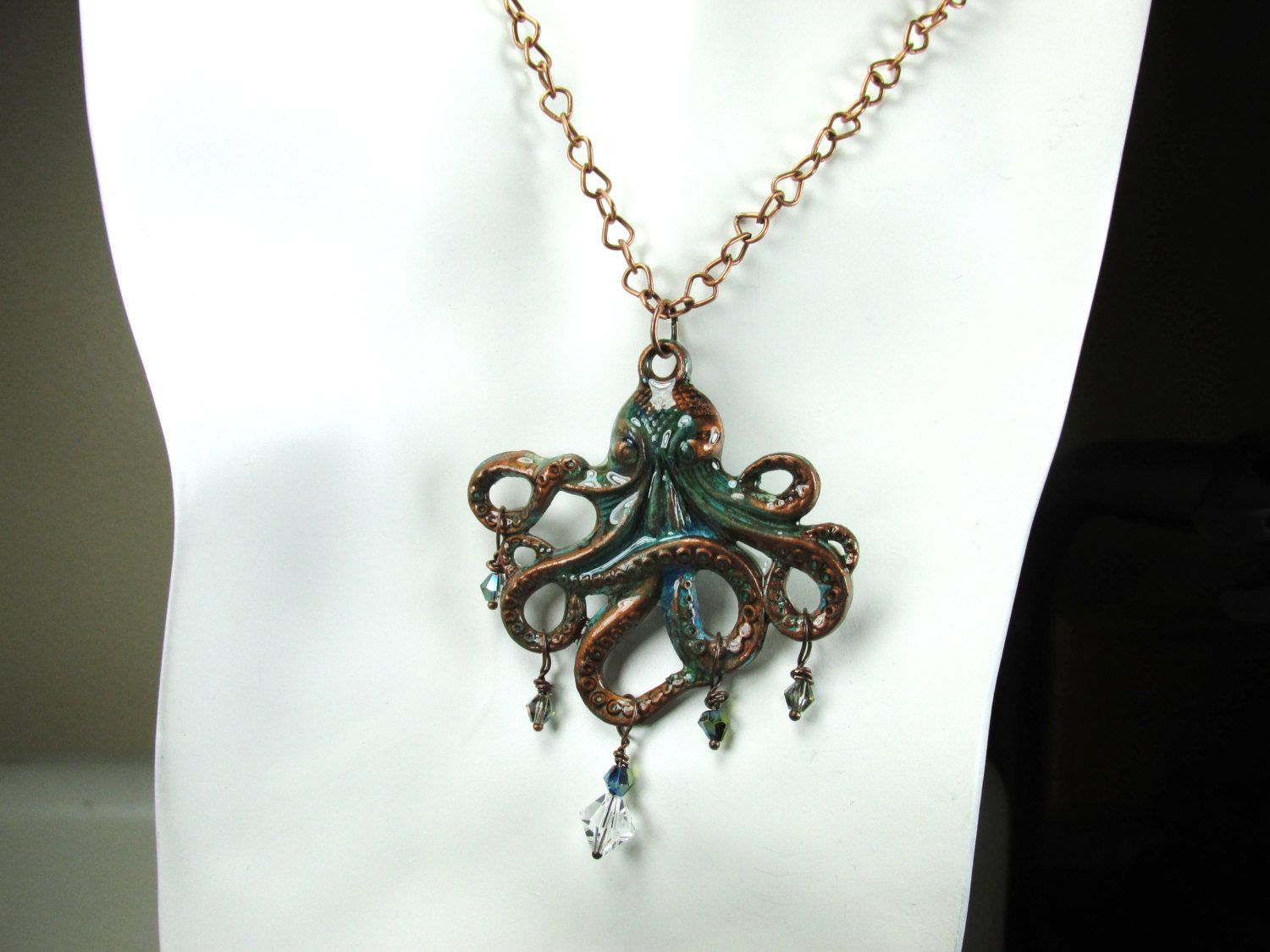 Artistically Handcrafted Patina Octopus by LunaHeartWearableArt on Etsy