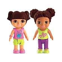 uwytdFisher-Price Dora the Explorer Playdates Figure Pack - Dora and Brown Haired Friend
