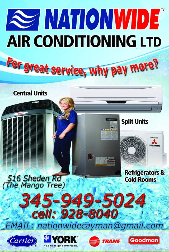 Nationwide Air Conditioning Refrigeration Ltd Should Be Your Choice For High Quality Condition Service Repair Or Installation Work In The Cayman