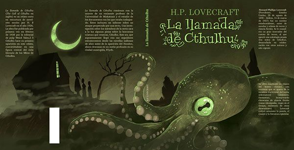 Jacket cover for The Call of Cthulhu on Behance