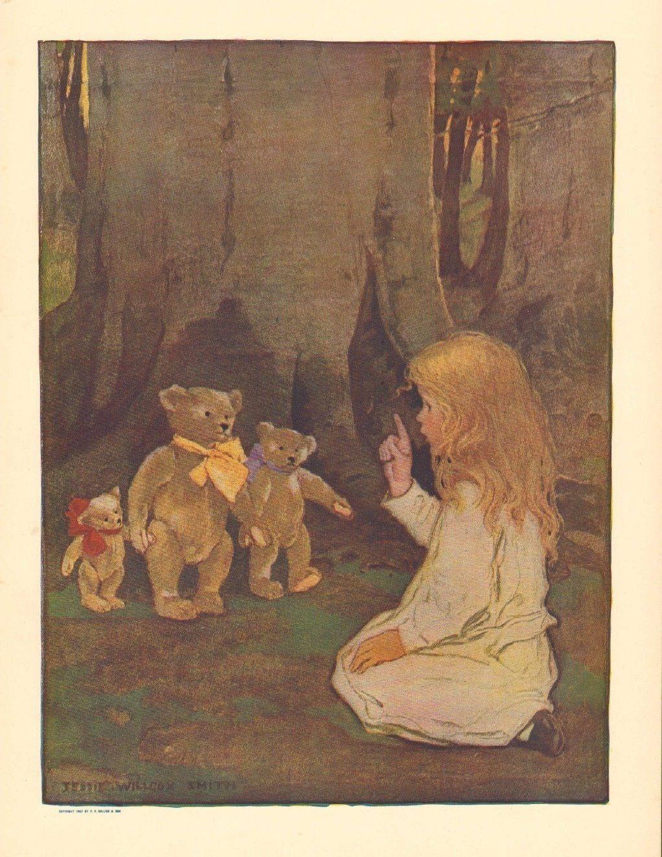 Jessie Wilcox - Goldilocks | Art, Fairy book, Vintage