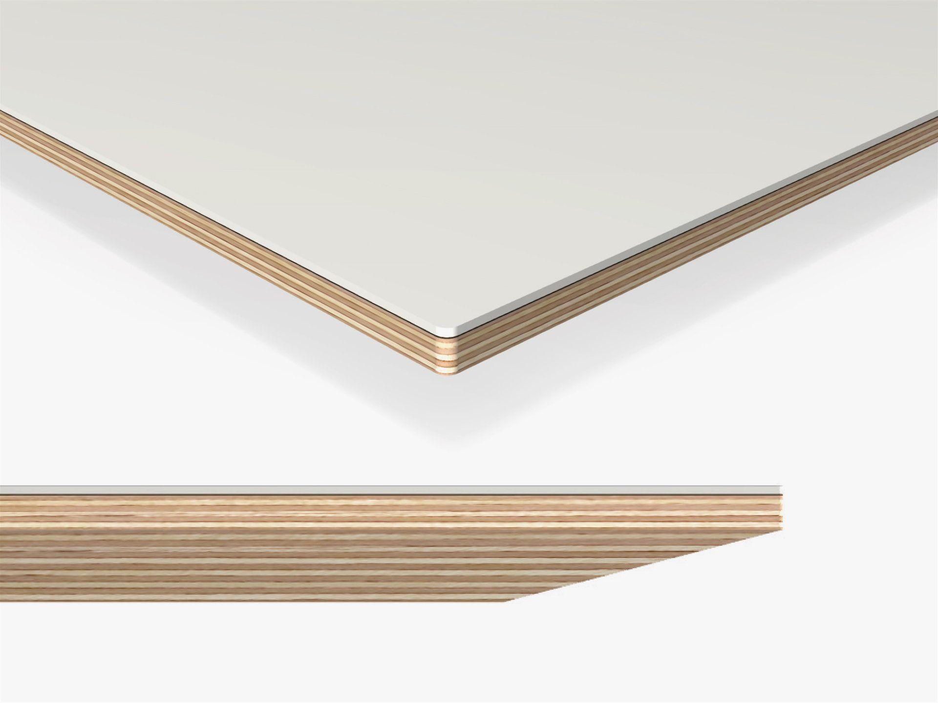 Linoleum Tischplatte Schrägkante 3mm Eckradius Im Zuschnitt Kaufen