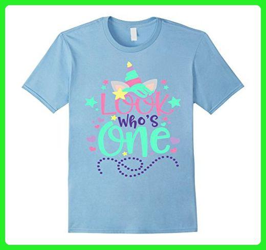 08ad04e0b Mens Baby's First Birthday Unicorn Shirt Look Who's One 1 Mom Dad 2XL Baby  Blue - Fantasy sci fi shirts (*Amazon Partner-Link)