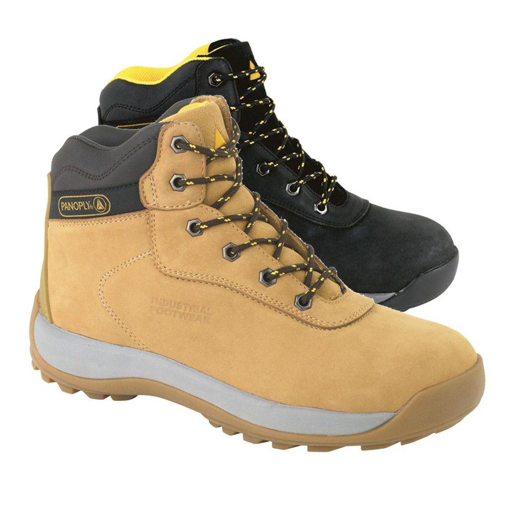 Delta plus nubuck leather steel toe work boots safety