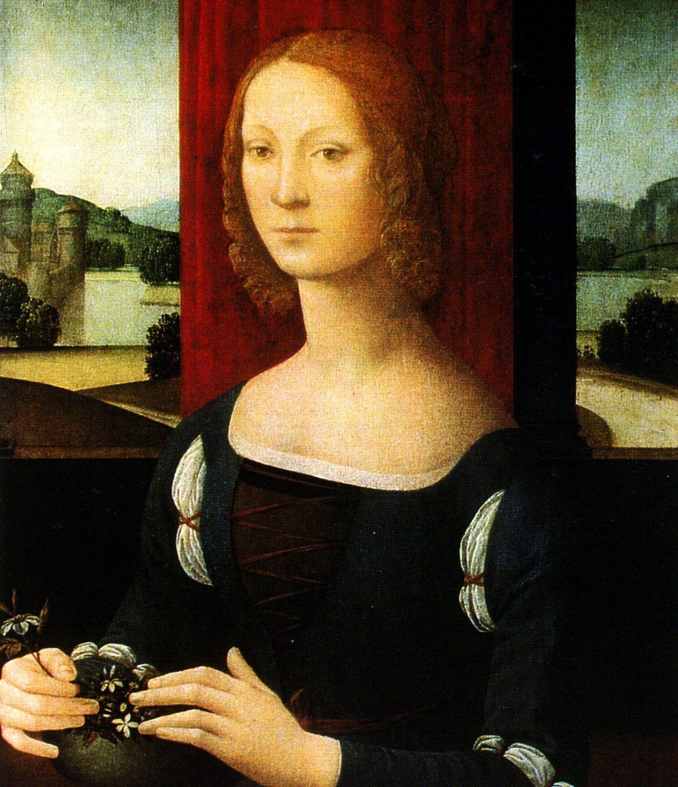Lorenzo di Credi (Italian artist, 1456-1536) Caterina Esforza 1480-83  
