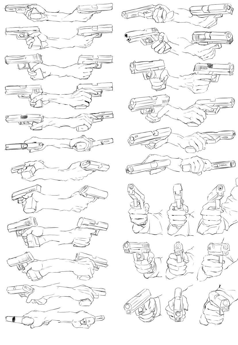 hand reference pose gesture weapon gun   Drawing References ...