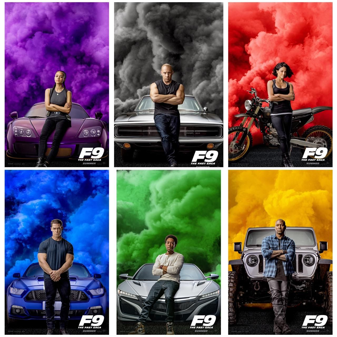 Fast And Furious 9 Official Character Posters Fast And Furious Fast And Furious Cast It Movie Cast