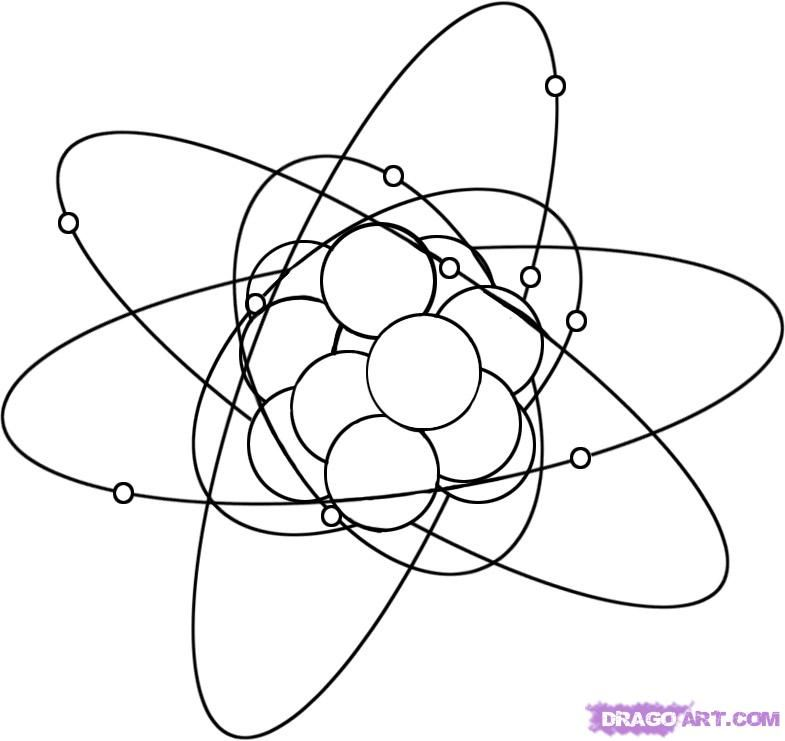 how to draw an atom step 7 Atom drawing, Drawings