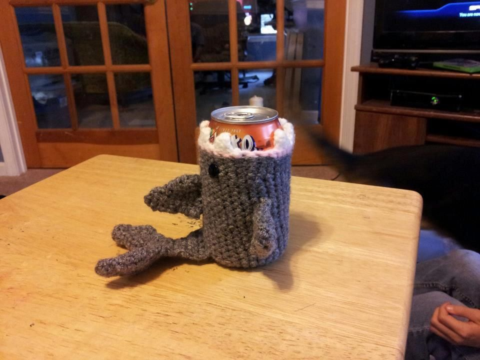 Shark Soda Can Cozy By K3marie Crocheting Pattern Crochet And
