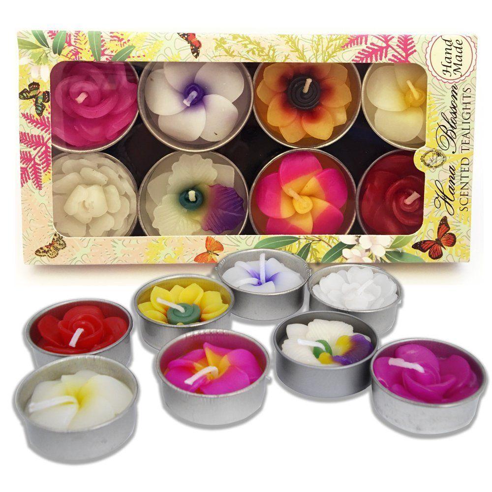 Hana Blossom Handmade Fairtrade Scented Flower Tealight