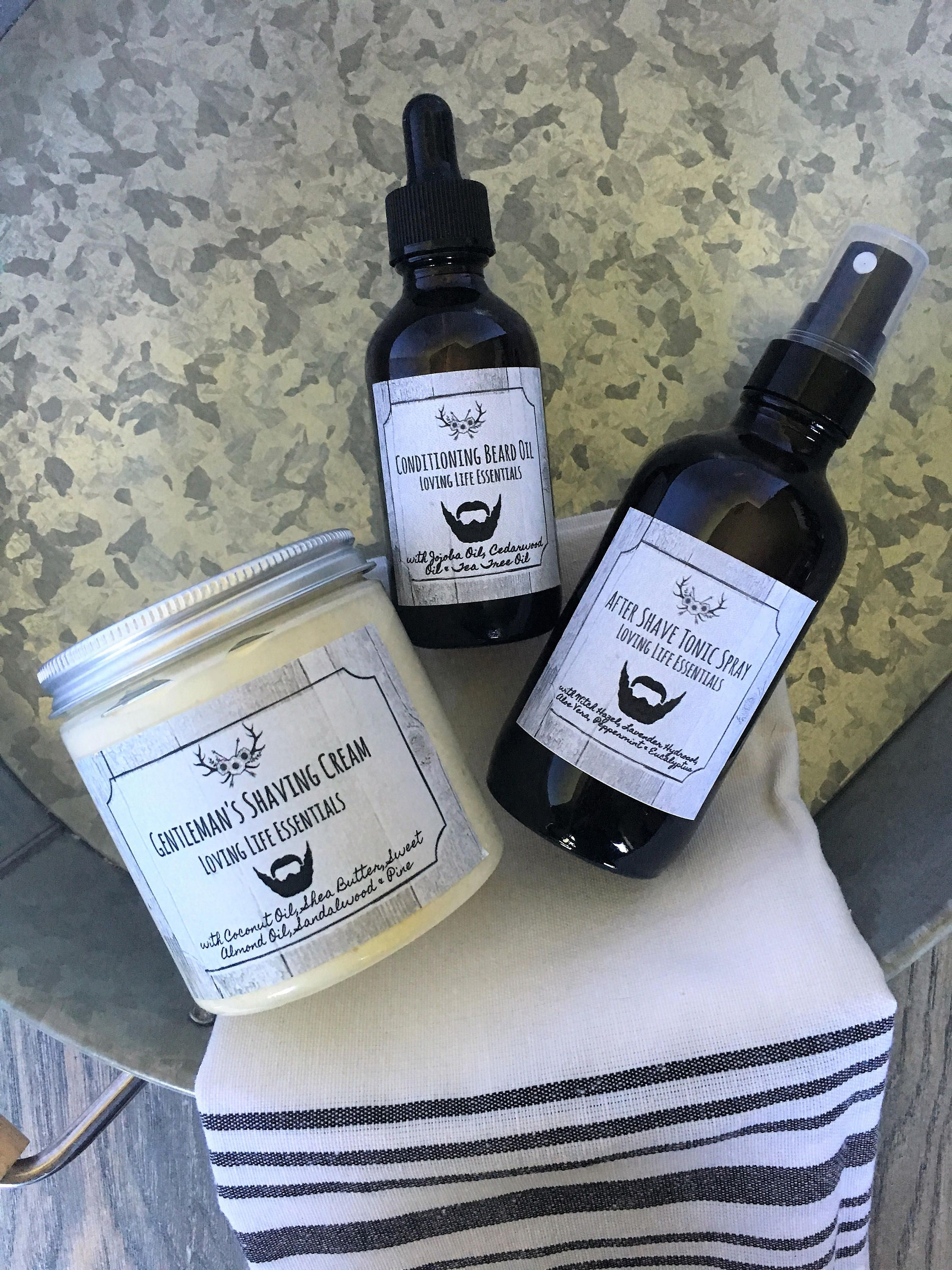 Gentlemen's Grooming & Shaving Kit, Father,s Day, Gifts for Him, Skin Care, Organic, All-Natural, Birthday Gift, Groomsman Gift by LovingLifeEssentials on ...
