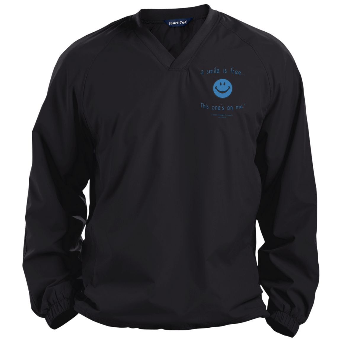 Pullover V-Neck Windshirt Blue Smile