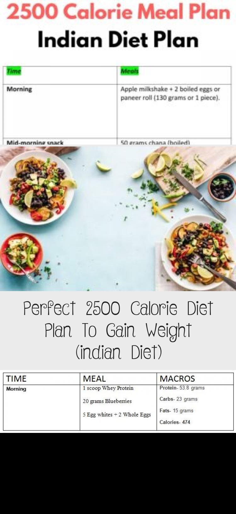 Perfect 2500 Calorie Diet Plan To Gain Weight (indian Diet