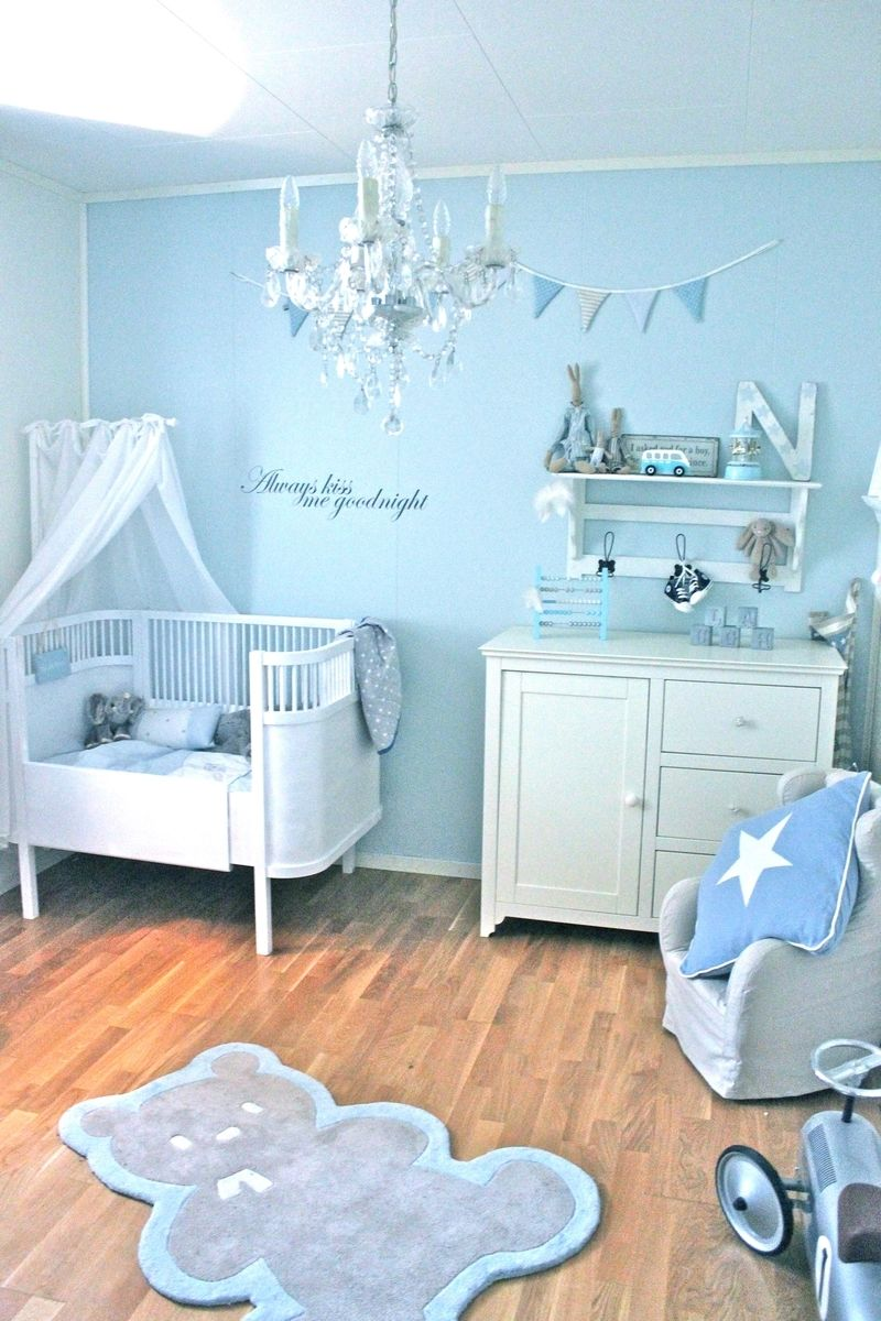 baby boy blue nursery pretty but maybe just a little too much
