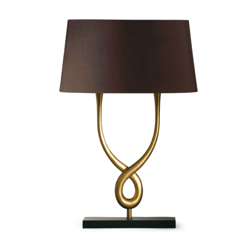Porta romana slb12 organic loop lamp pale gold with slate base