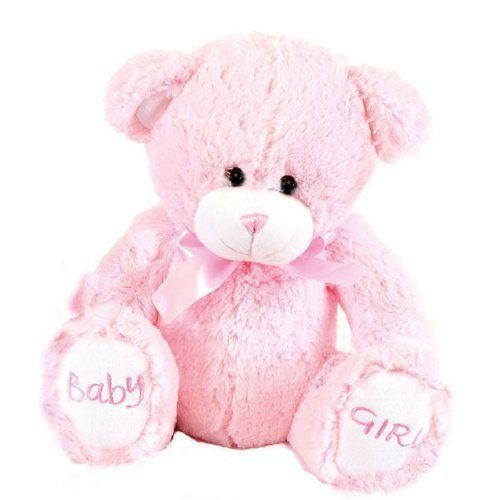 Cute 10 inch 'Baby Girl' soft bear by Baby Posh Paws pink