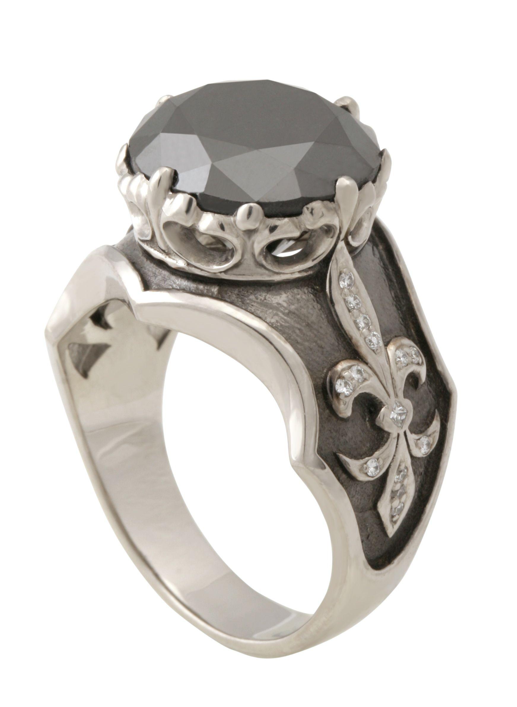 Мужской перстень золото 585/750* бриллианты