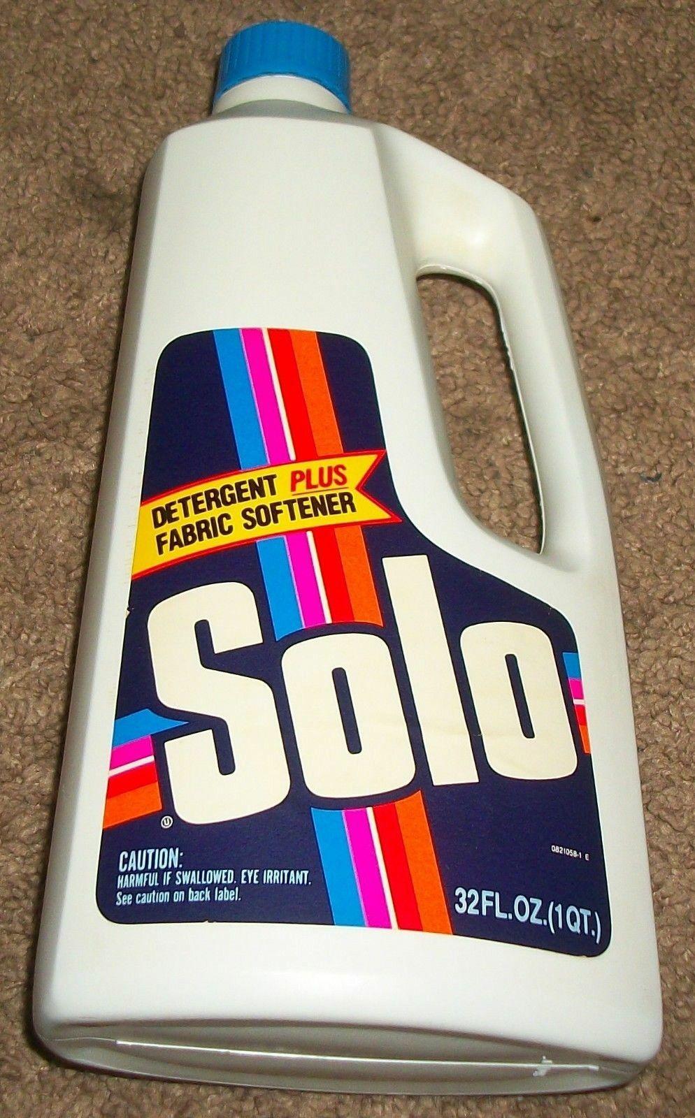 Solo Liquid Detergent Plus Fabric Softener 1979 Vintage