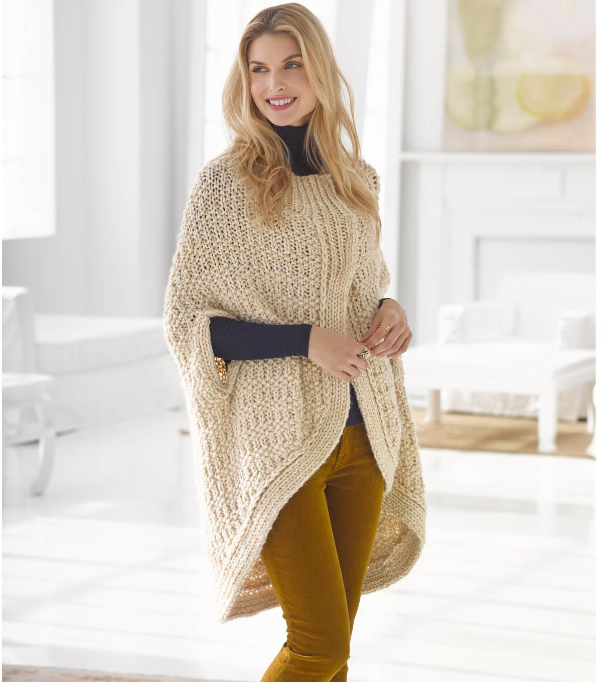 Knit your own cocoon cape with this free pattern just in time knit your own cocoon cape with this free pattern just in time for fall bankloansurffo Choice Image