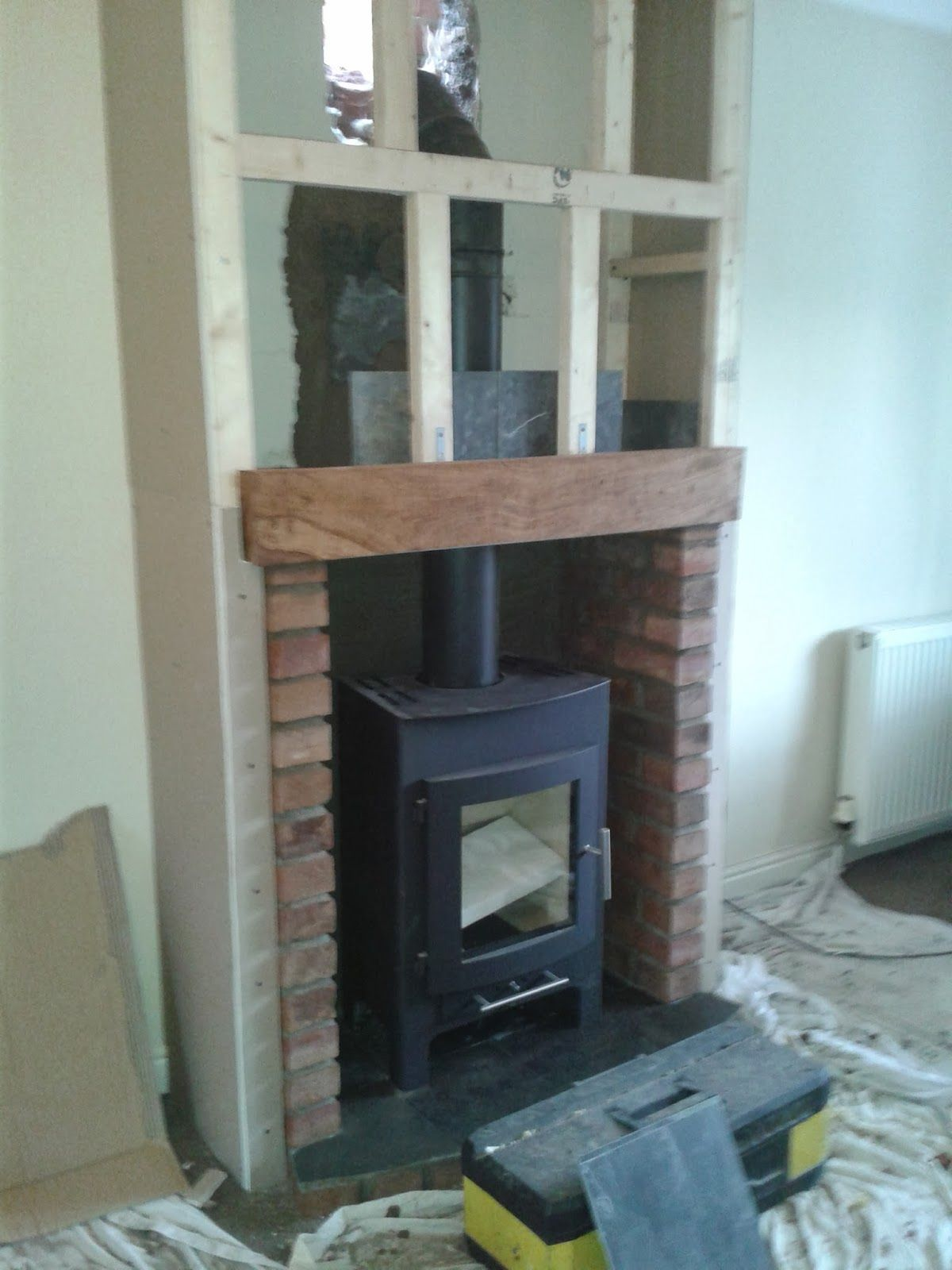 Wood stove surround ideas - Mock Chimney Breast