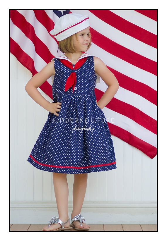 Sailor Dress Pattern - PDF Sewing Pattern - Girls Sailor Collar ...