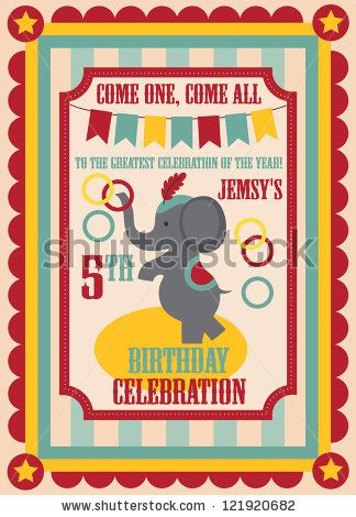 Kid birthday invitation card design vector illustration by monbibi kid birthday invitation card design vector illustration by monbibi via shutterstock stopboris Choice Image