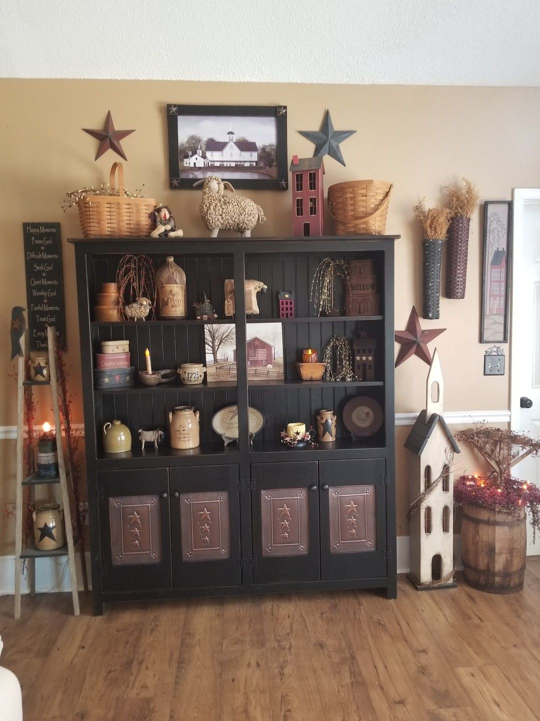 Primitive Book Case Country House