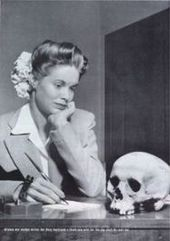 """On May 22, 1944 Life Magazine published a photo of an American girl with a Japanese skull sent to her by her naval officer boyfriend. The letters Life received from its readers in response to this photo were """"overwhelmingly condemnatory"""""""