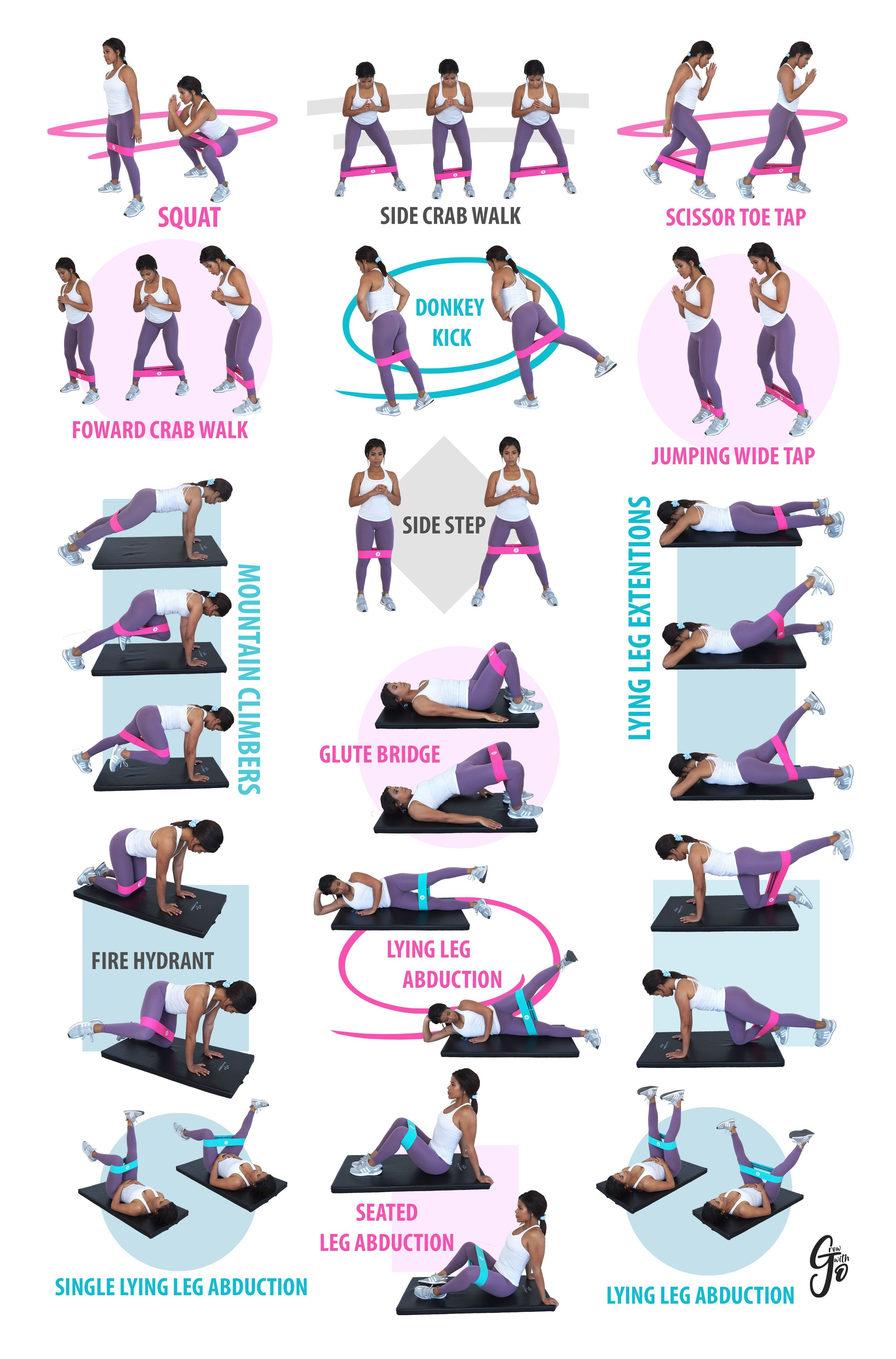 RESISTANCE BAND EXERCISES leg workout at home resistance ...