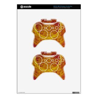 yellow  wood abstract art xbox 360 controller skin