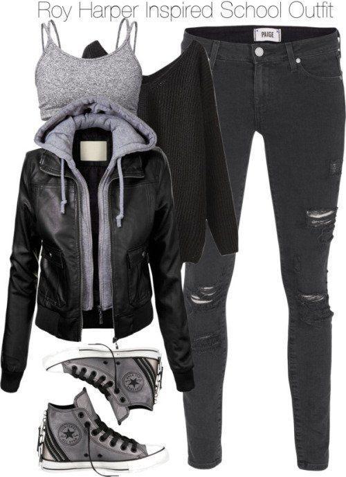 Nicht langweilige Winter-Outfits für die Schule #winteroutfits