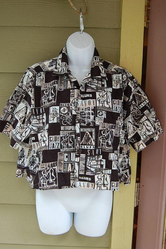 Vintage 80s 1980s Summer Esprit Crop Top Tank Shirt