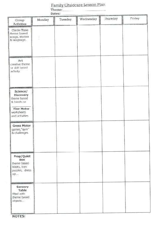 lesson plan template Classroom Templates, Frames \ Printables - sample preschool lesson plan