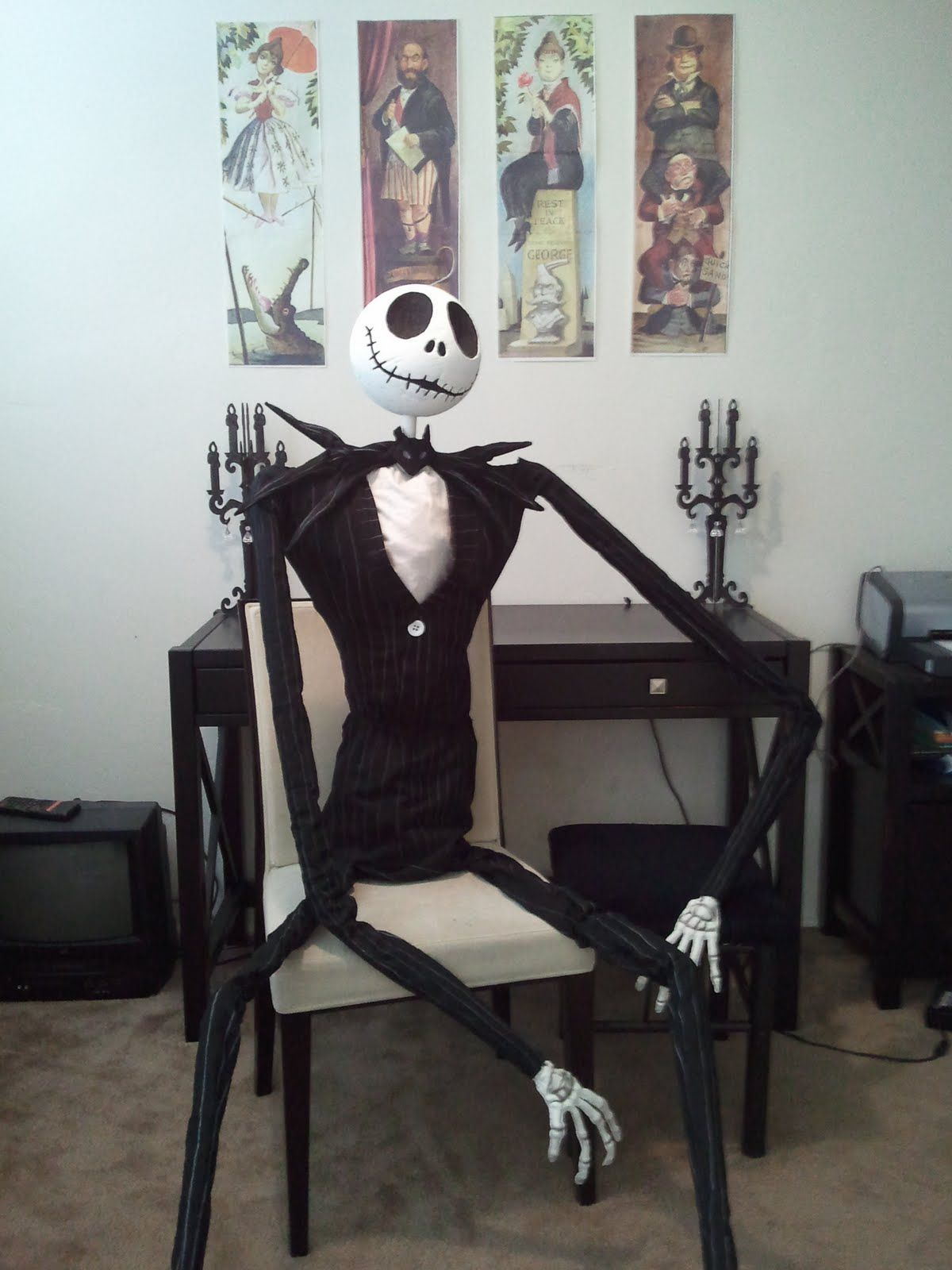 diy nightmare before christmas halloween props life size diy jack skellington prop i know i could do this now if only i can find the time