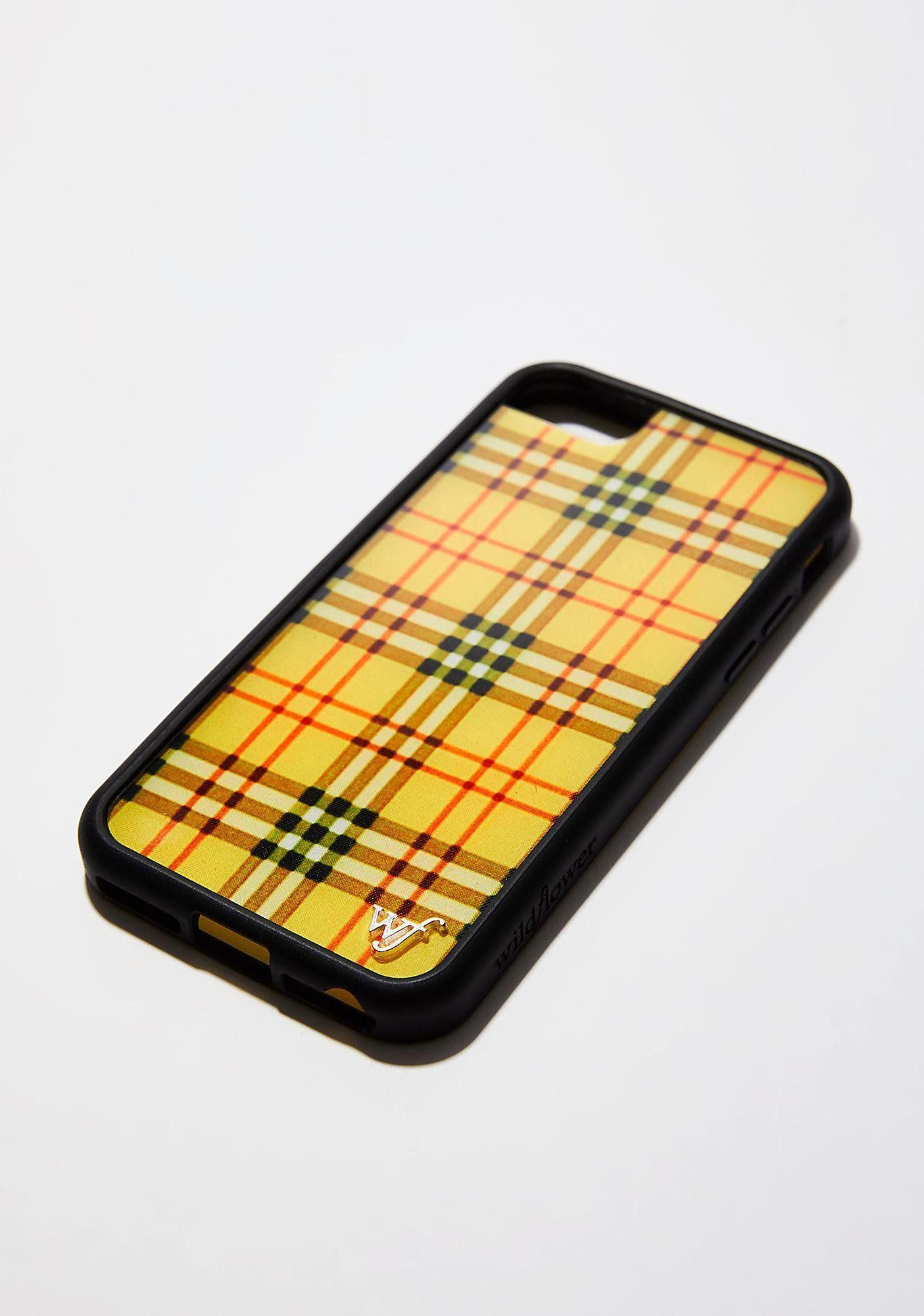 Wildflower Yellow Tartan iPhone Case iphoneaccessories,