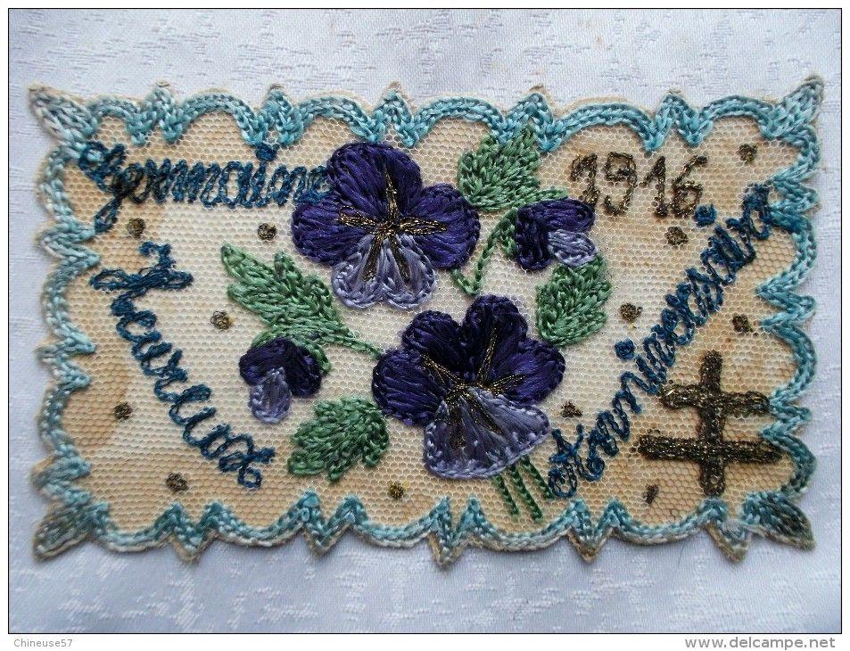 Germaine 1916 vente Delcampe | Cartes anciennes, Carte postale, Broderie