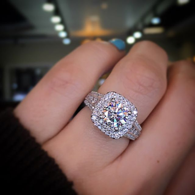 Gabriel NY Double Halo Engagement Ring  The Best of