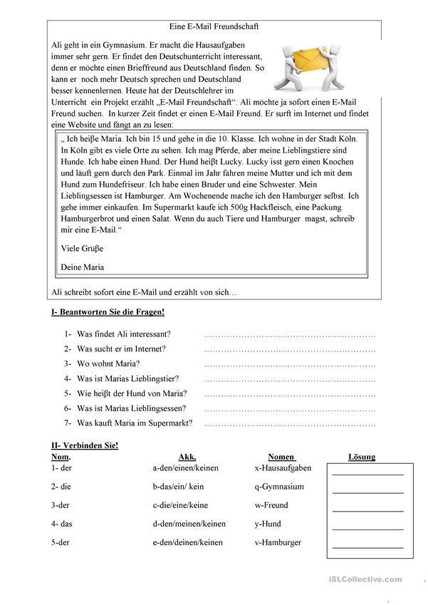 E-Mail Freundschaft | Hallo, Kinder, wir lernen Deutsch | Pinterest ...