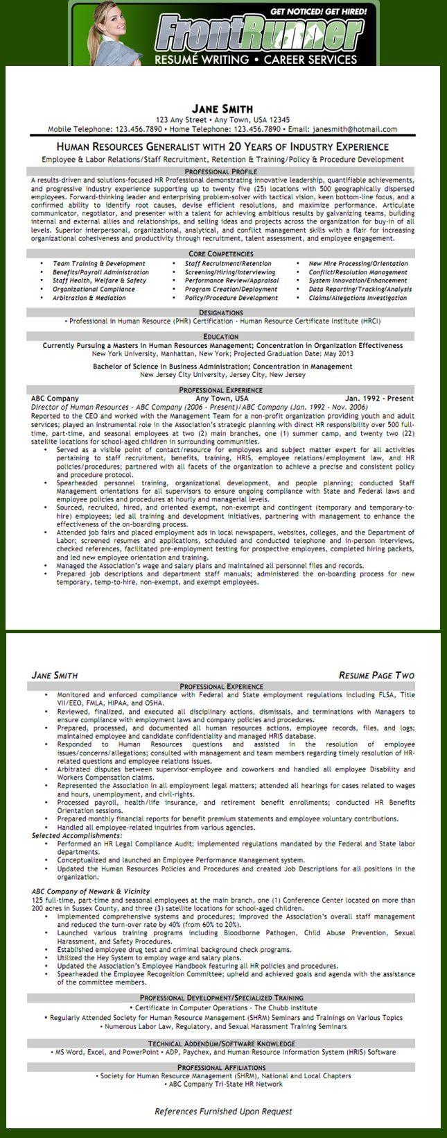 Resume - Human Resources Generalist | Work | Pinterest | Recursos ...