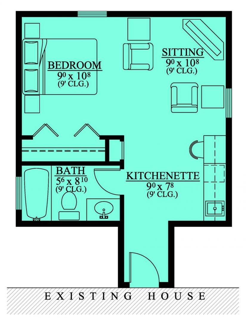 654185 mother in law suite addition house plans for In law apartment plans