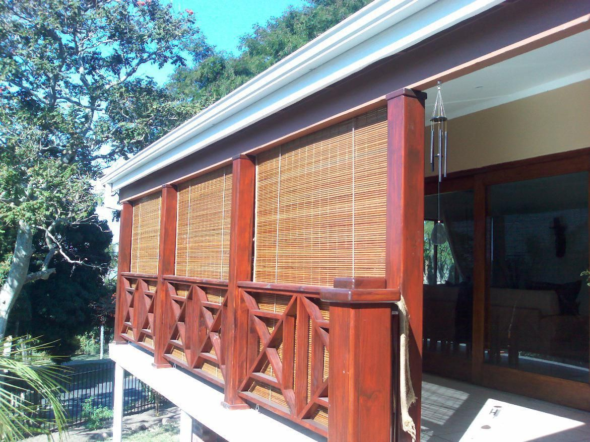 bamboo shades on front porch exterior - Google Search | garden and ...