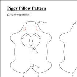 Piggy Pillow - Free Sewing Pattern \u0026 Tutorial